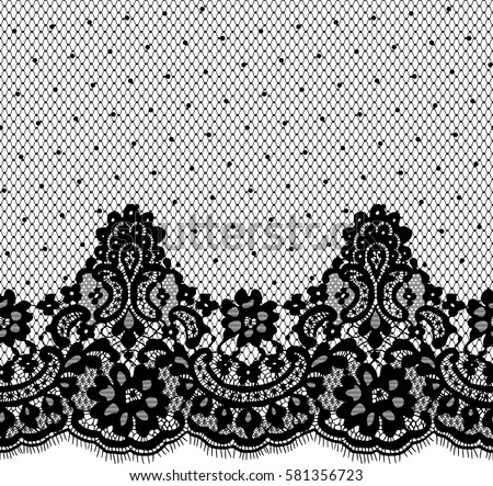 seamless black vector lace pattern stock vector royalty free rh shutterstock com vector lace pattern free seamless black vector lace pattern
