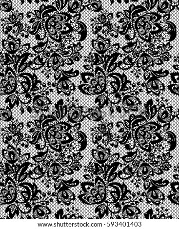 seamless black vector lace pattern stock vector 593401403 shutterstock rh shutterstock com vector wedding floral lace pattern vector lace pattern download