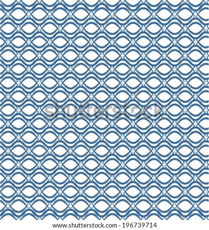 Seamless blue and white geometric vector pattern