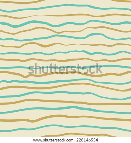 Seamless blue and yellow striped pattern background. Vector illustration - stock vector