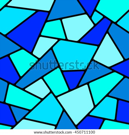 Seamless blue mosaic pattern. - stock vector