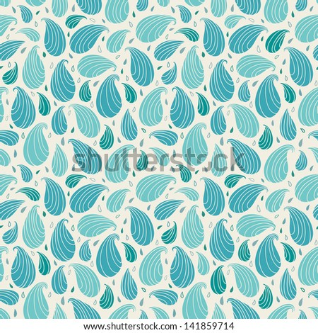 Seamless blue ornamental pattern. Endless abstract retro texture, template for design and decoration fabric, covers, wrapping paper, package - stock vector
