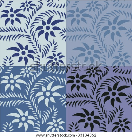 seamless blue pattern - stock vector