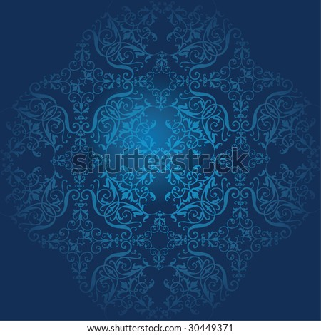 Seamless  blue plants pattern. FIND MORE pattern in my portfolio