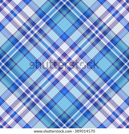 Seamless blue, violet and white diagonal pattern (vector, EPS 10) - stock vector