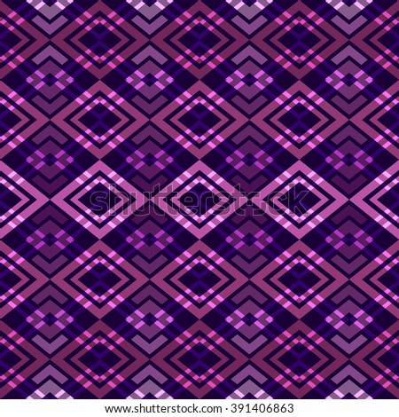 Seamless boho style pattern. Abstract geometrical wallpaper.