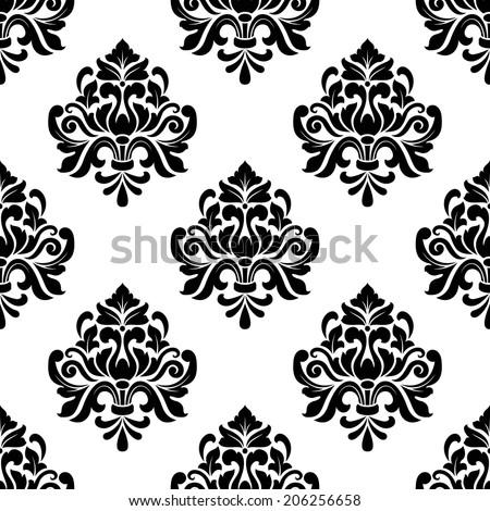 damaskstyle seamless arabesque pattern floral motifs stock. Black Bedroom Furniture Sets. Home Design Ideas