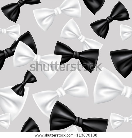 Seamless bow tie pattern - stock vector