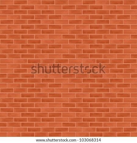 Seamless brick wall background, vector eps10 illustration - stock vector