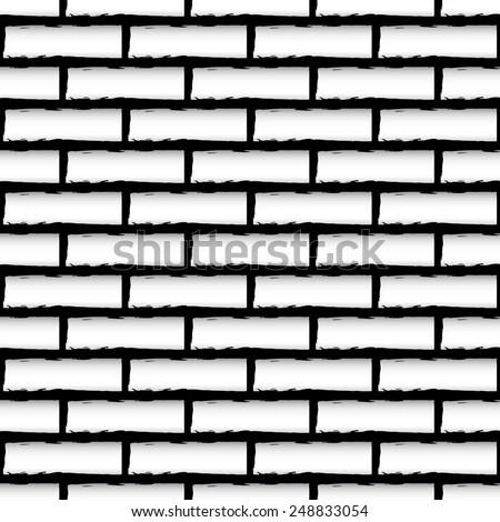 Seamless brick wall texture (Repeatable) - stock vector