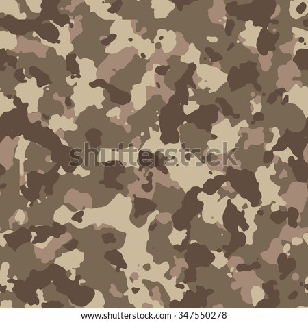 Seamless brown sandy fashion camouflage pattern vector - stock vector