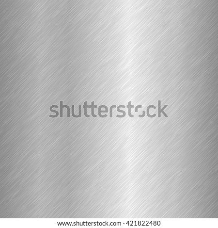 Seamless brushed metal texture. Vector illustration - stock vector