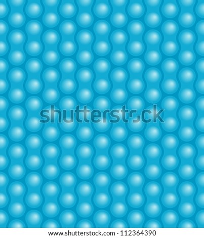 Seamless bubble pattern - stock vector