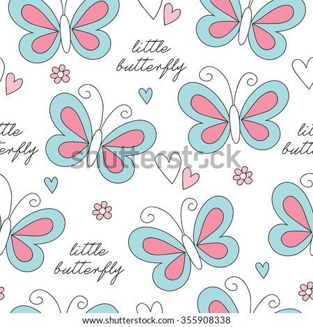 seamless butterfly pattern vector illustration