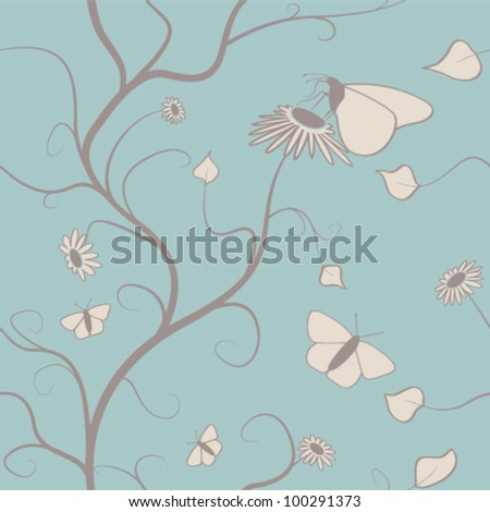 Seamless Butterfly Wallpaper Pattern