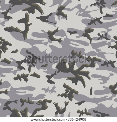 Seamless camouflage background pattern - stock vector