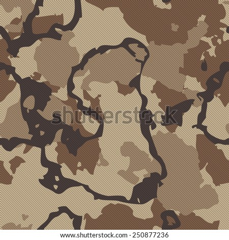 Seamless Camouflage Fabric Texture