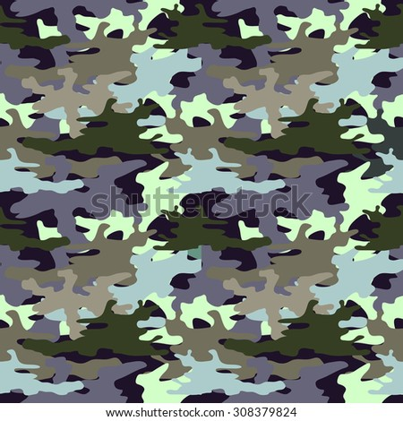 Seamless camouflage pattern. Man fashion. Military textile collection. Grey on purple. Backgrounds & textures shop. - stock vector