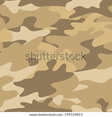 Seamless Camouflage Pattern Military Background Sand Colors Abstract Vector Design EPS10