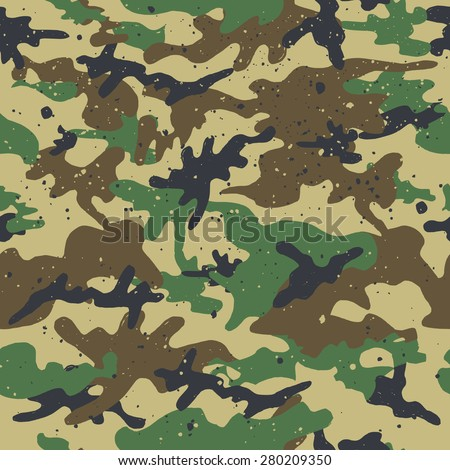 Seamless Camouflage Pattern. Vector Background - stock vector