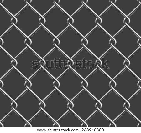 Seamless Chain Fence - stock vector