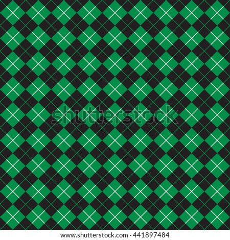 Seamless Check Pattern in Green and Black