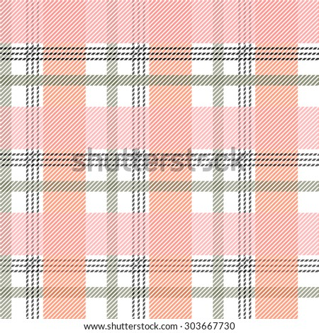 Seamless checked plaid pattern. Abstract vector background. Pink. Backgrounds & textures shop. - stock vector