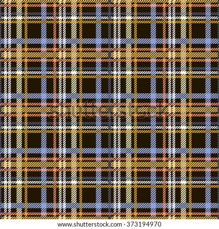 Seamless checkered pattern. Colored diagonal lines form plaid print. Criss-crossed horizontal and vertical bands in multiple colors. Tartan ornament. Vector illustration for fabric, paper and other - stock vector