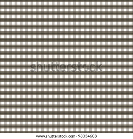 Seamless checkered pattern in brown tones. Vector illustration - stock vector