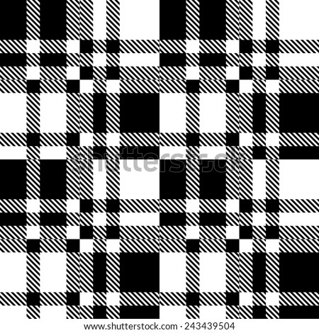 Seamless Checkered Pattern. Vector Geometric Background. Regular Black and White Texture - stock vector