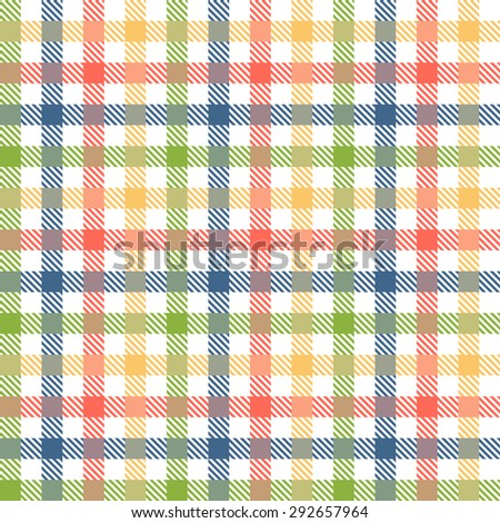 seamless checkered table cloth background with different colors - stock vector