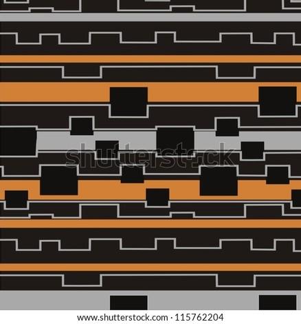 Seamless checkered vector pattern. - stock vector
