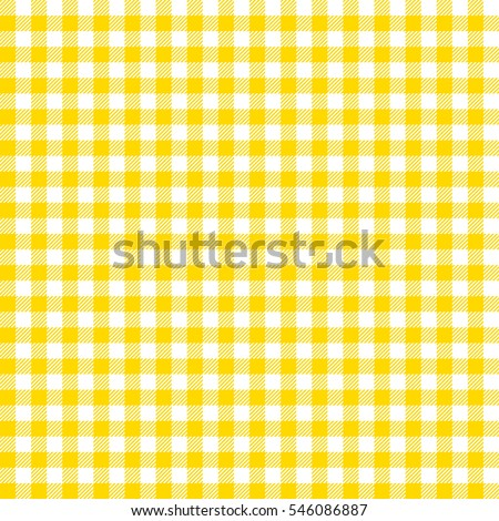 Seamless Checkered Vector Pattern. Coarse Vintage Yellow Plaid Fabric  Texture. Abstract Geometric Background.