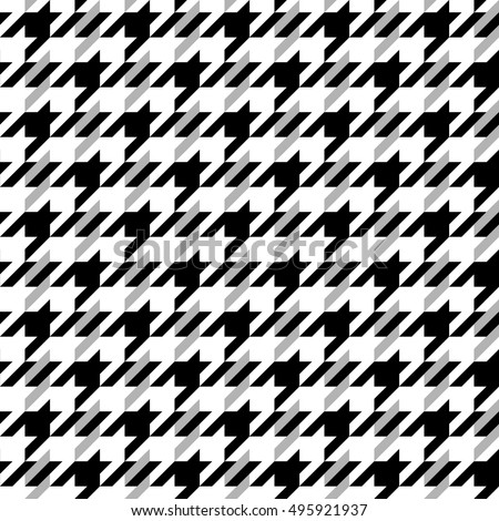Classical english hounds tooth print with stripes retro textile design