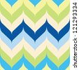 Seamless chevron background pattern with pointed and rounded edges - stock vector