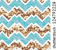 Seamless Chevron Camouflage Melange Background Pattern - stock vector