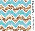 Seamless Chevron Camouflage Melange Background Pattern - stock vector