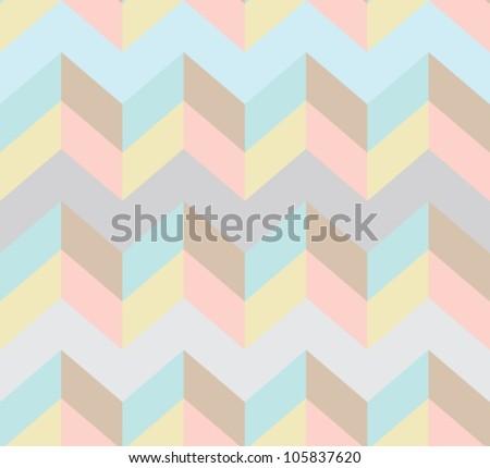 Seamless chevron pattern, beautiful vector illustration - stock vector