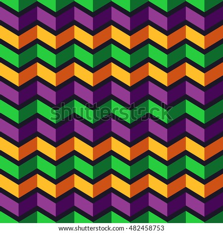 Seamless Chevron Pattern Colorful Abstract Background Stock Vector ...