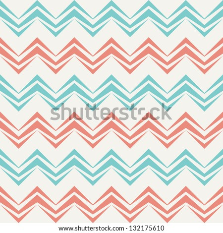 Seamless chevron pattern in retro style. Can be used to fabric design, wallpaper, decorative paper, scrapbook albums, web design, etc. Swatches of seamless pattern included in the file.