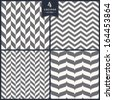 Seamless chevron pattern set - stock