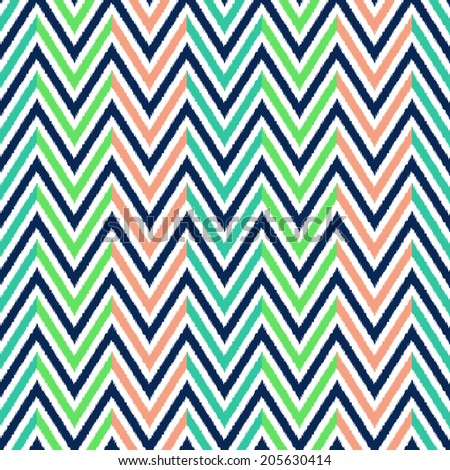 seamless chevron wave pattern - stock vector