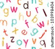 Seamless childish colorful alphabet pattern - stock photo