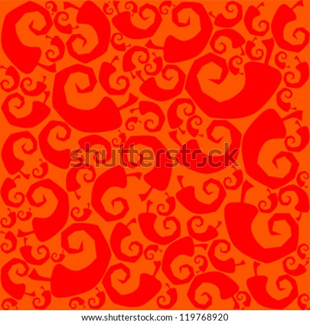 Seamless Chili Pepper wallpaper. Vector Illustration - stock vector