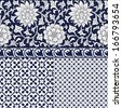 Seamless chinese ornament - stock