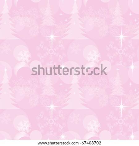 Seamless Christmas ornament/background, eps10 - stock vector