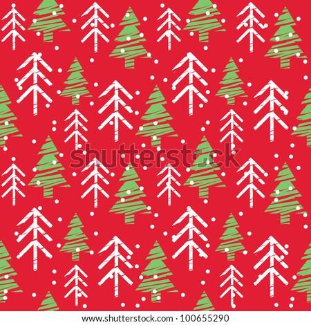 Seamless Christmas Pattern - stock vector