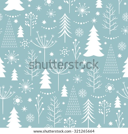 seamless Christmas pattern - stock vector