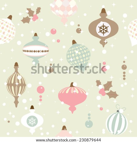 Seamless Christmas pattern. EPS 10 vector illustration