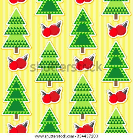 Seamless christmas pattern. Holiday background for Christmas and New Year. Winter wallpaper. Vector illustration.